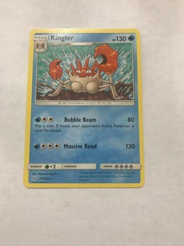 New Pokémon Card - Kingler (47/214) - NM To Mint - Unbroken Bonds - Non-Halo