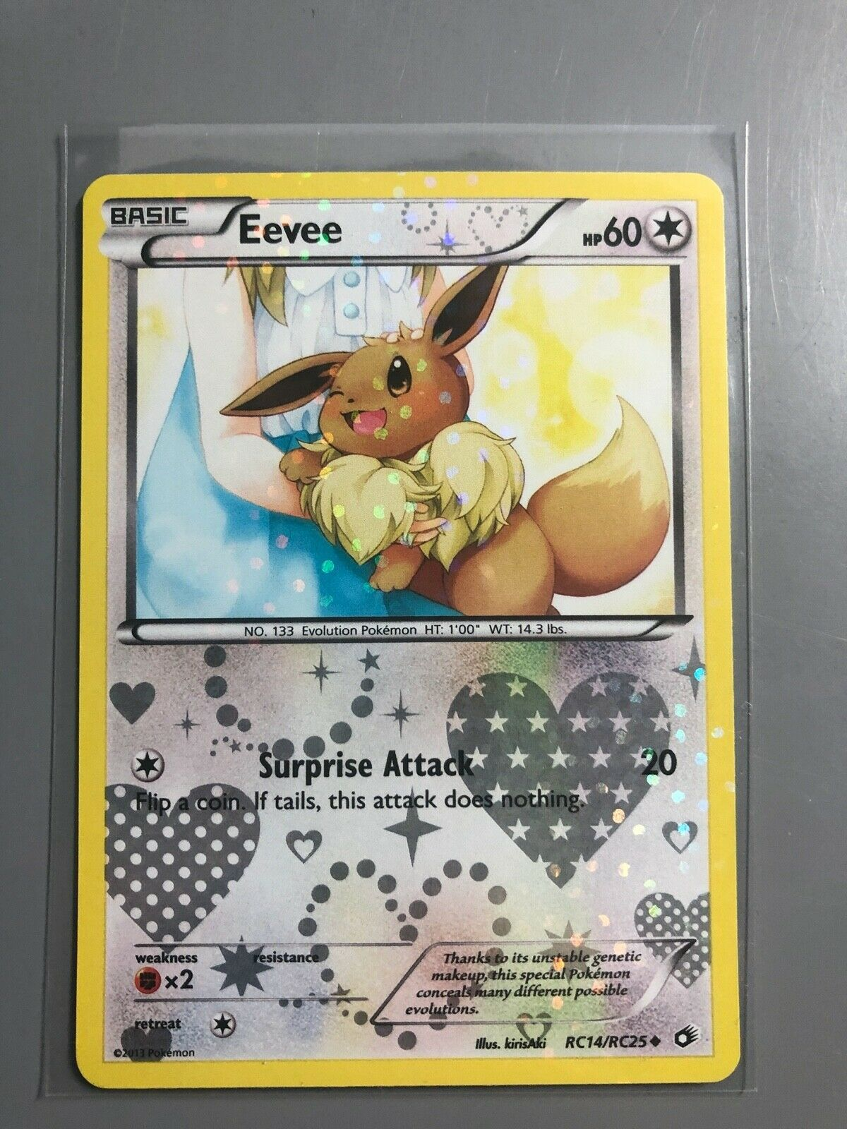 EEVEE  RC14//RC25 Holo Radiant Collection POKEMON B/&W Legendary Treasures