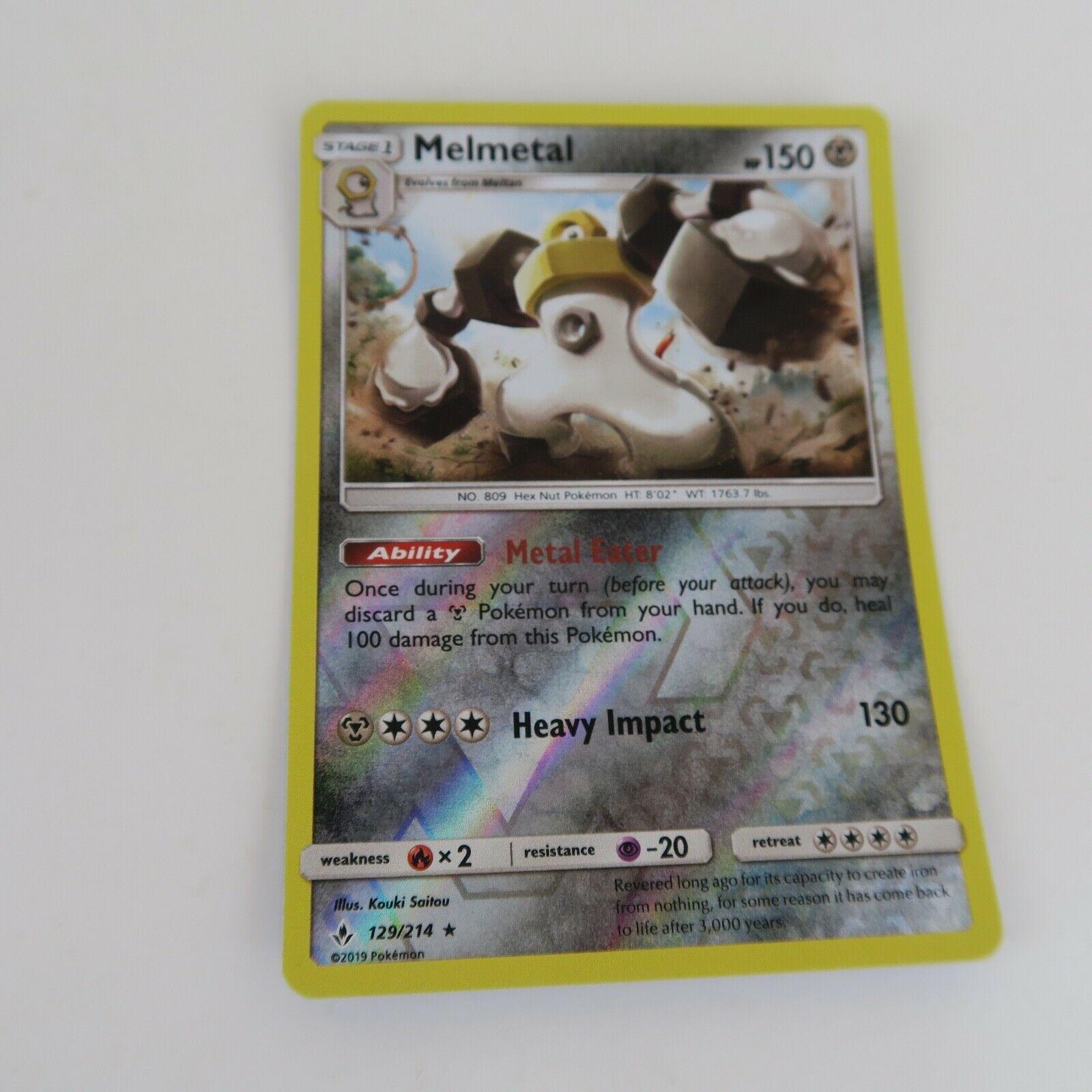 129/214 MELMETAL REVERSE HOLO | Pokemon Trading Card Game TCG | UNBROKEN BONDS