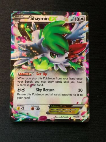 Shaymin EX Half Art 77//108 Roaring Skies Near Mint Pokemon TCG