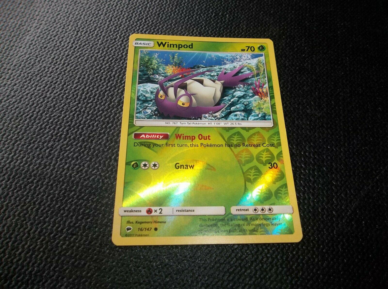 MINT Burning Shadows Rev Holo Pokemon WIMPOD 16//147