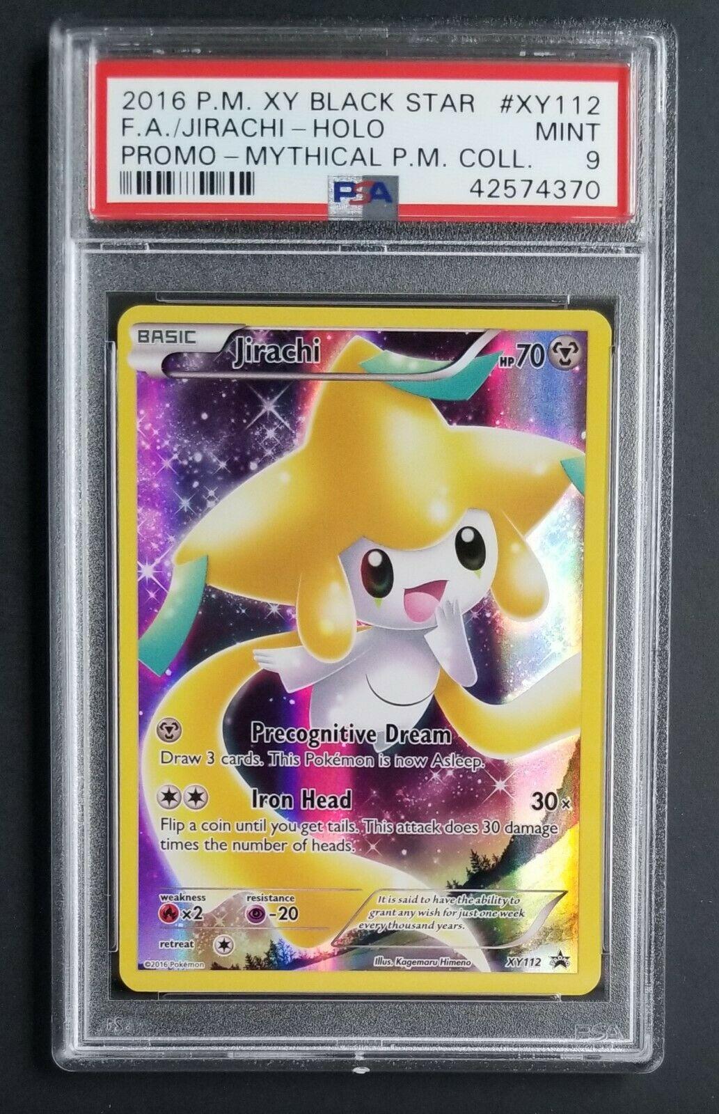 Jirachi Full Art Holo Pokemon Card Black Star Generations XY Promo XY112