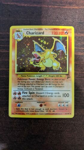 4//102 Unlimited Edition Lightly Played Pokemon G1 Holo Rare 1x Charizard