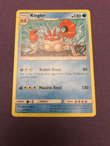 POKEMON SM UNBROKEN BONDS CARD : KINGLER - 47/214
