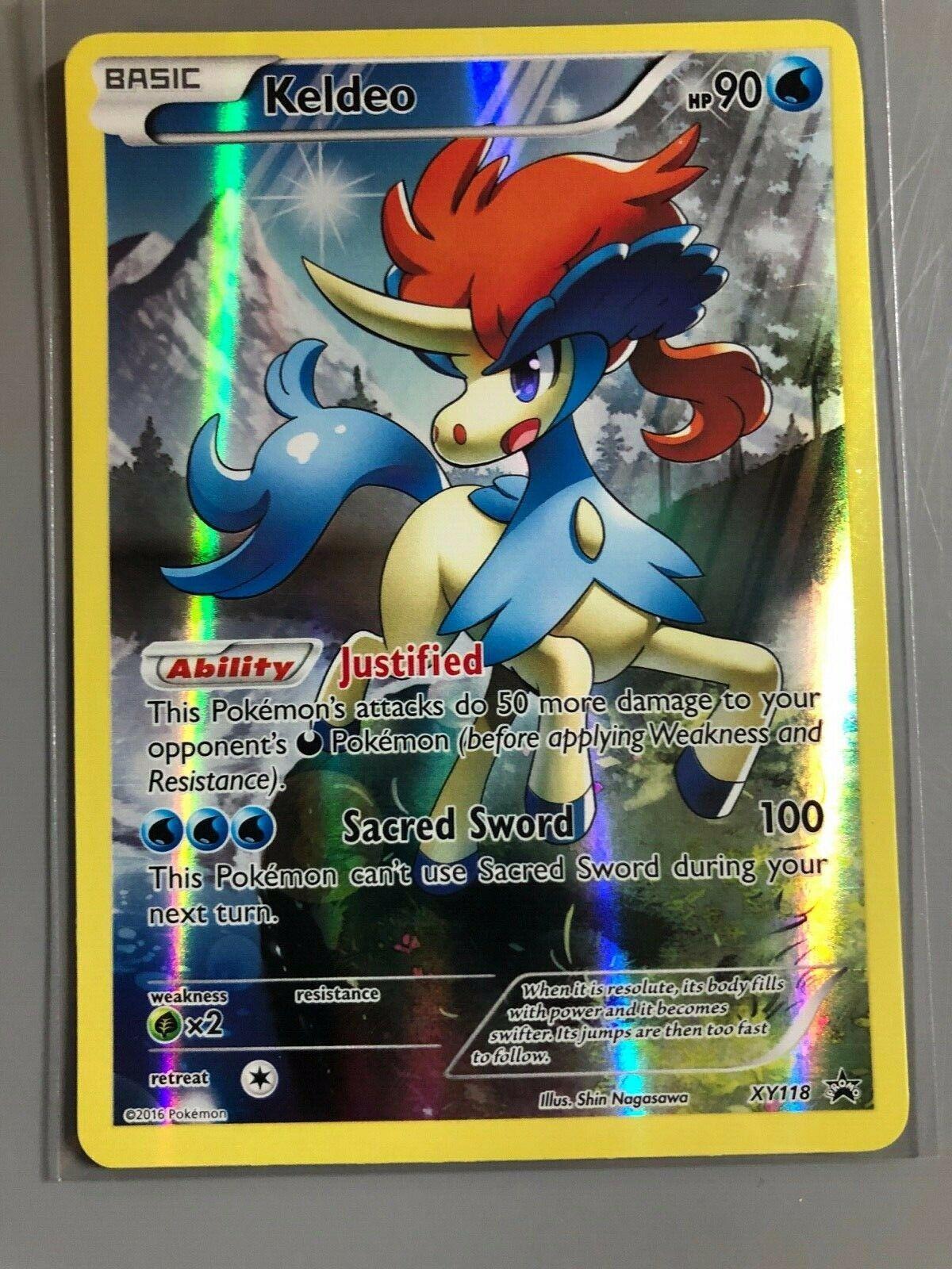 Keldeo  XY118 Holo Promo Pokemon Englisch NM//Mint