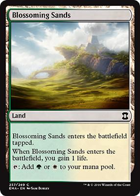 x4 Blossoming Sands IKO MTG Ikoria 244//274 LAND M//NM 4x