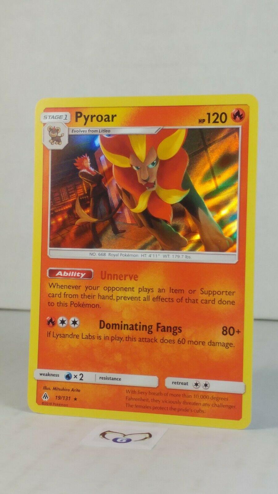 Pyroar 19/131 SM: Forbidden Light   Holo Rare   Mint/NM  Pokemon - Image 2
