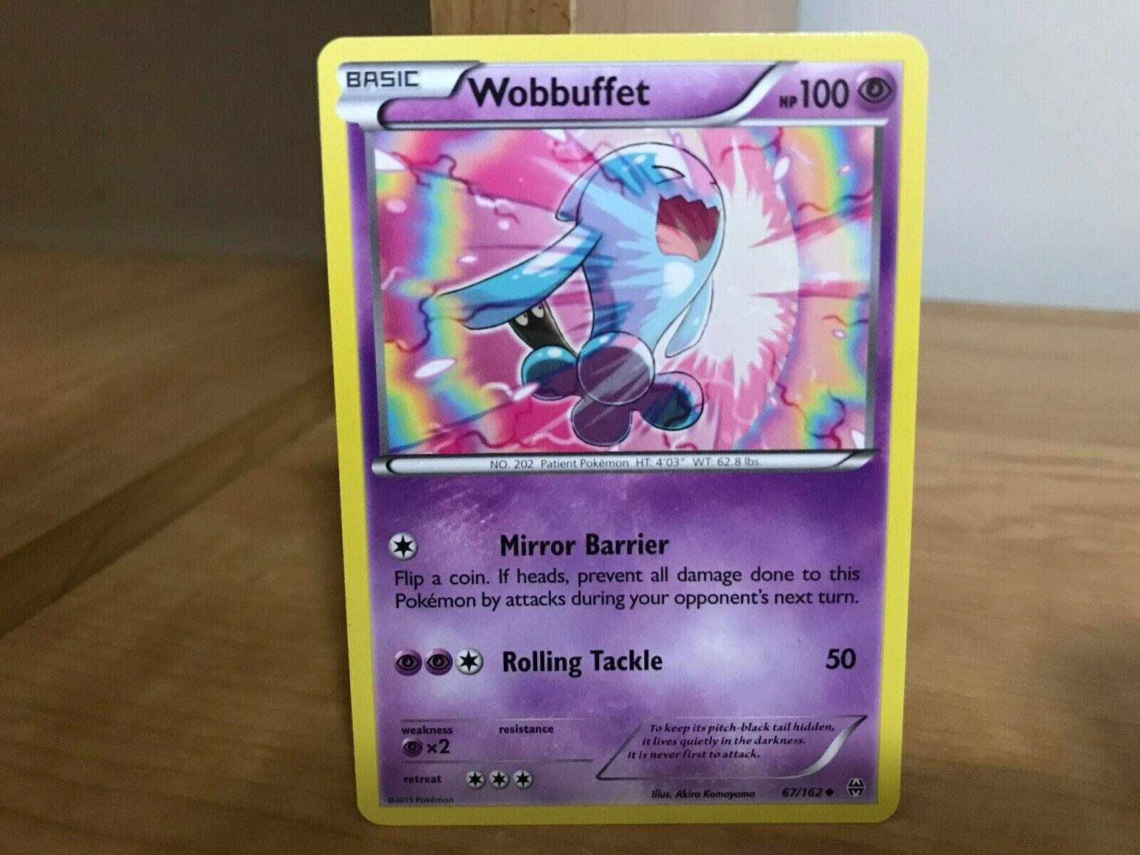 Pokemon Wobbuffet 67//162 XY Breakthrough REVERSE HOLO PERFECT MINT