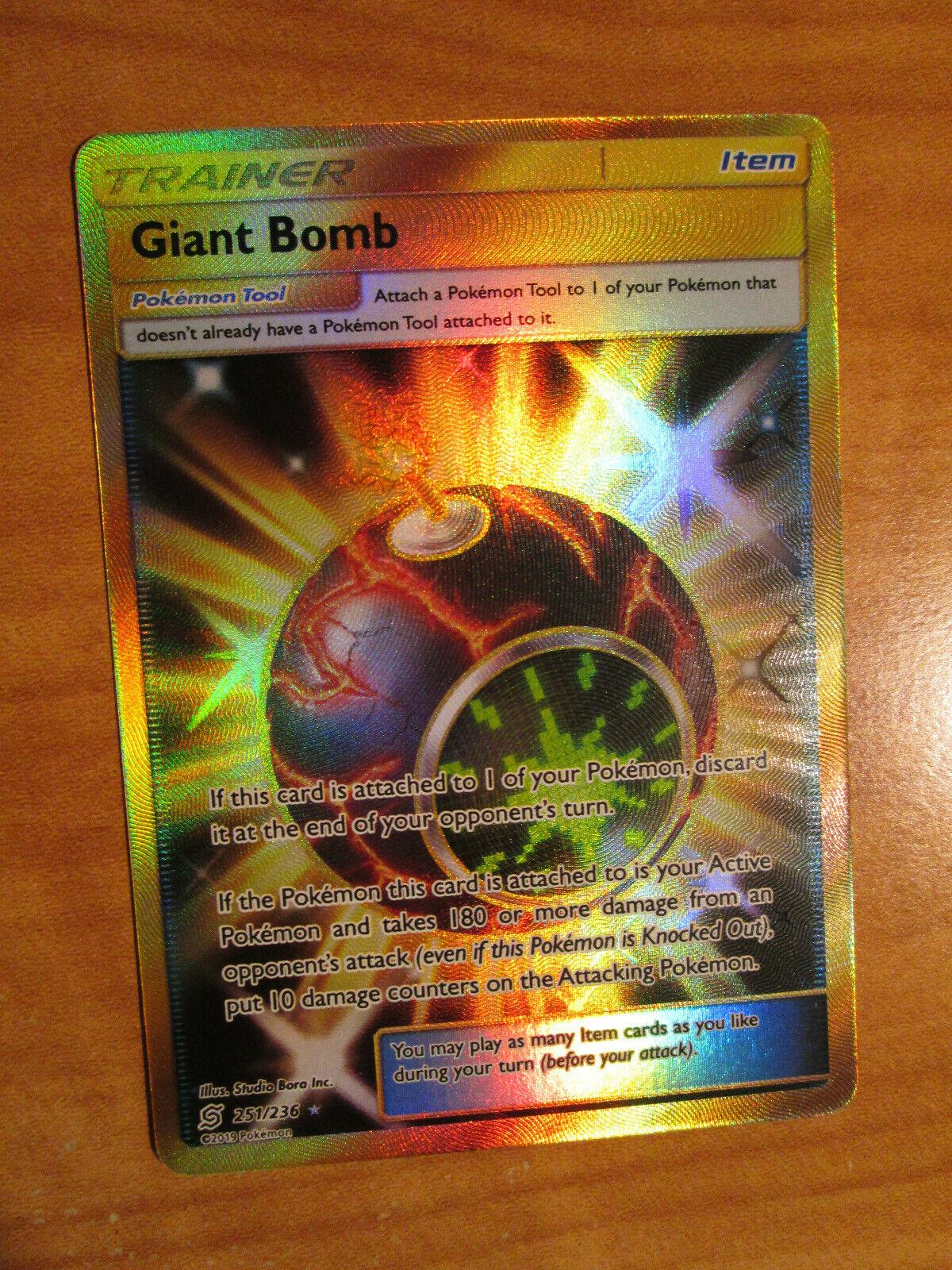 Giant Bomb Full Art 251//236 Unified Minds PTCGO Online Digital Card