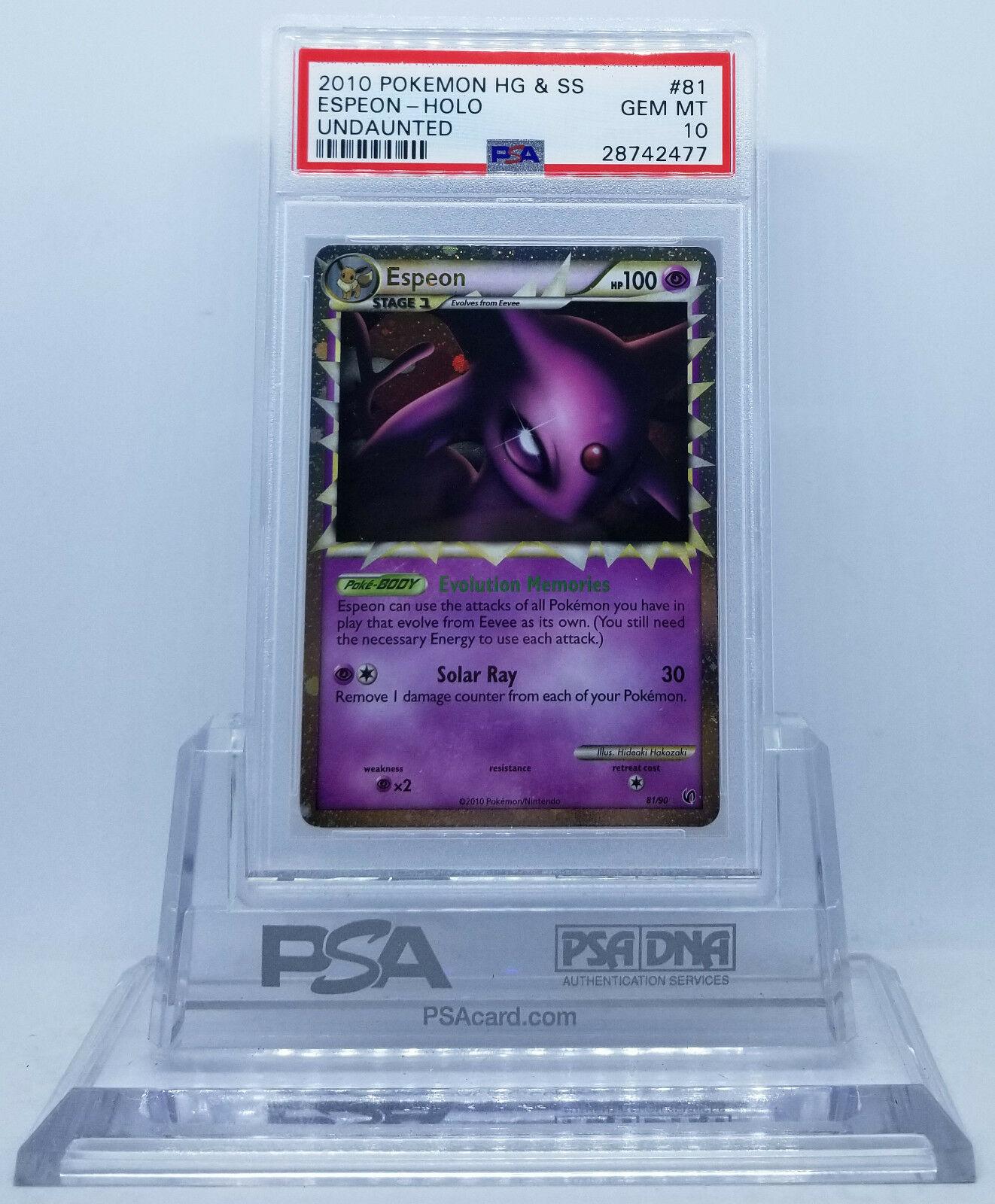 Espeon Prime Undaunted 81//90 Pokemon Card Ultra Rare NM