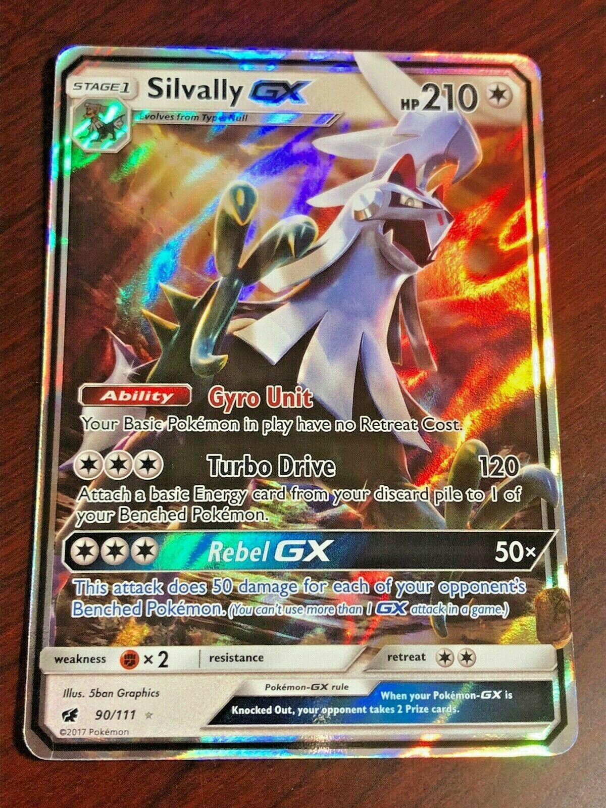 Japanese SSR Pokemon Card 242-150-SM8B-B Silvally GX
