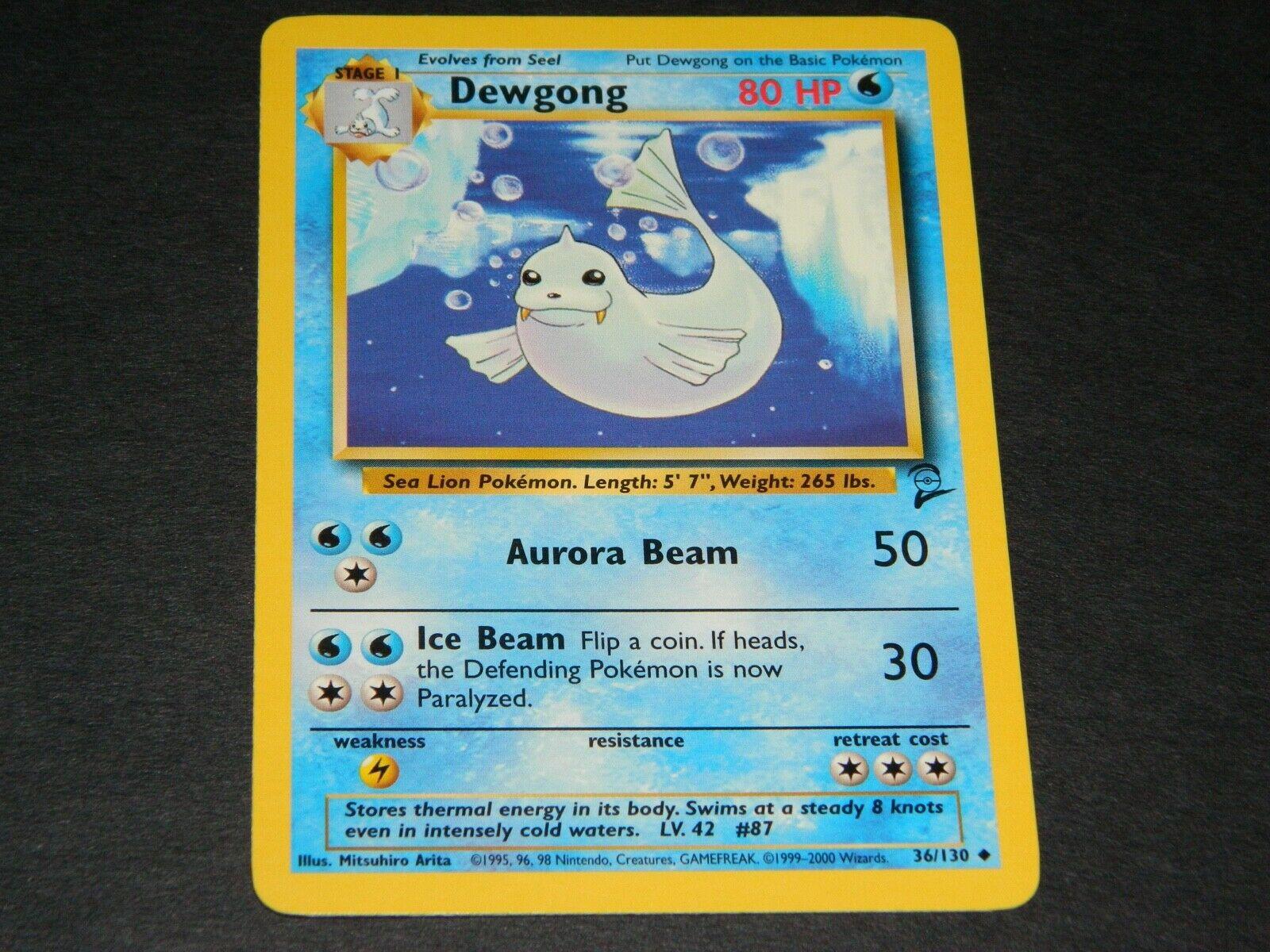 Dewgong 36//130 Pokemon Base Set 2 PSA 10