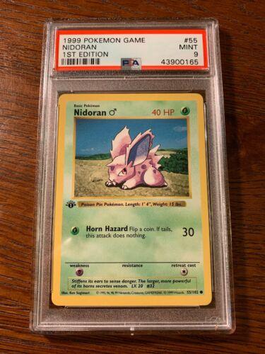NM Nidoran 1999 Shadowless Base Set Unlimited Common Pokemon Card 55//102