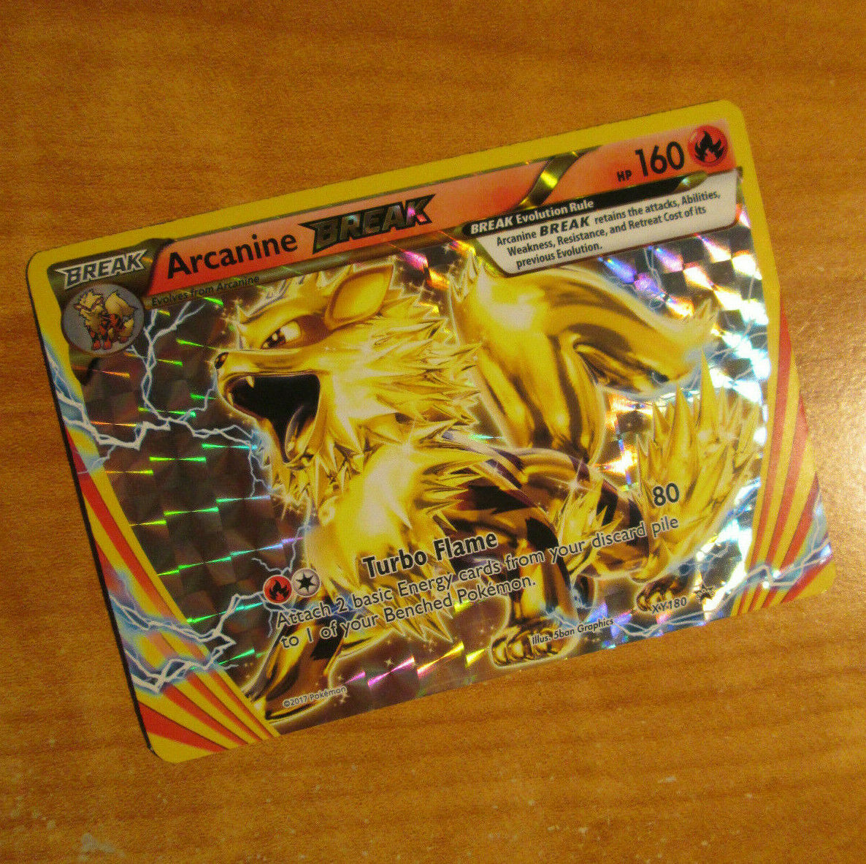 LP JUMBO Pokemon ARCANINE BREAK Card BLACK STAR PROMO Set XY180 OVERSIZED Large