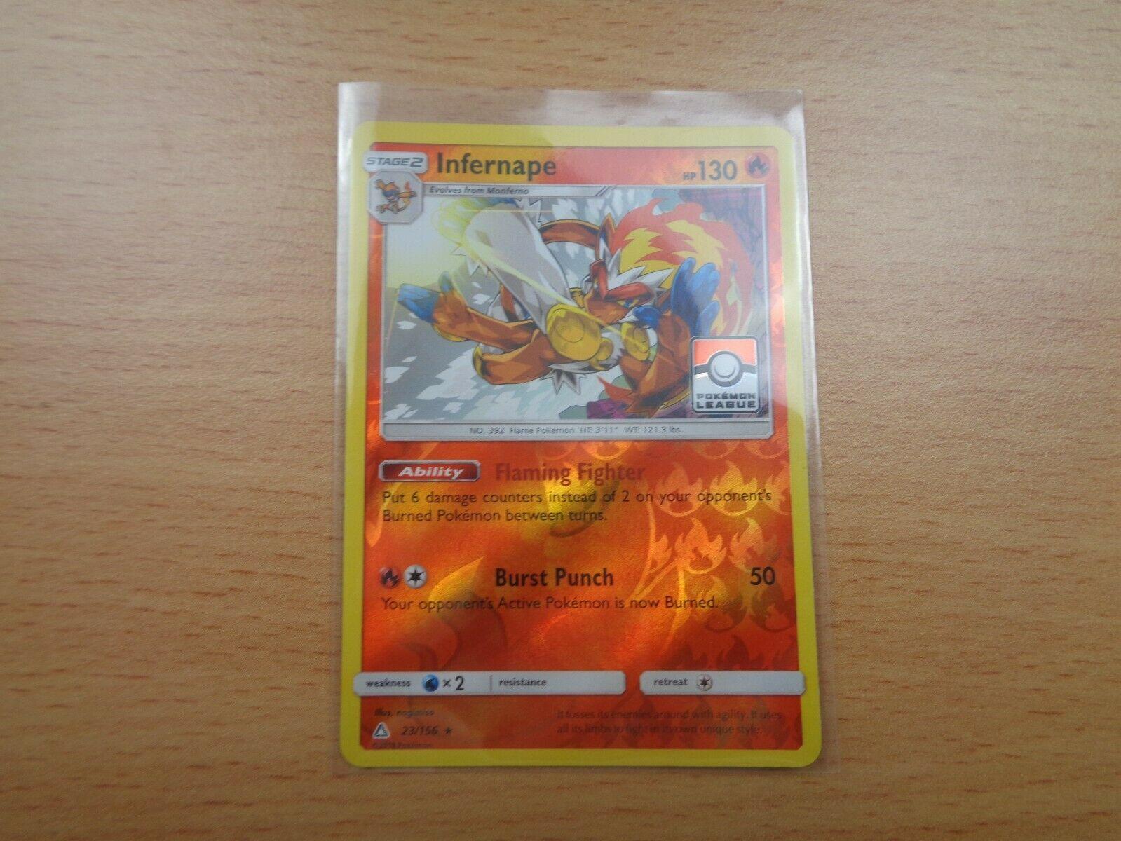 Infernape (23/156) RARE REVERSE HOLO POKEMON LEAGUE PROMO Card, Ultra Prism - Image 3