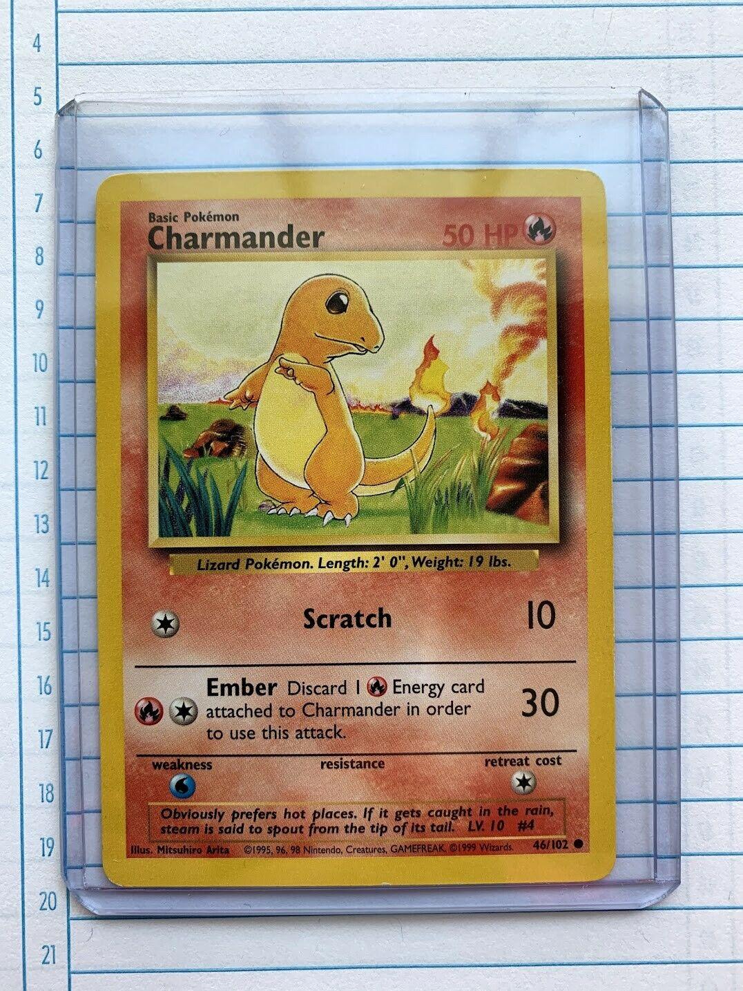 Charmander 46//102 Base Set 1999 NM