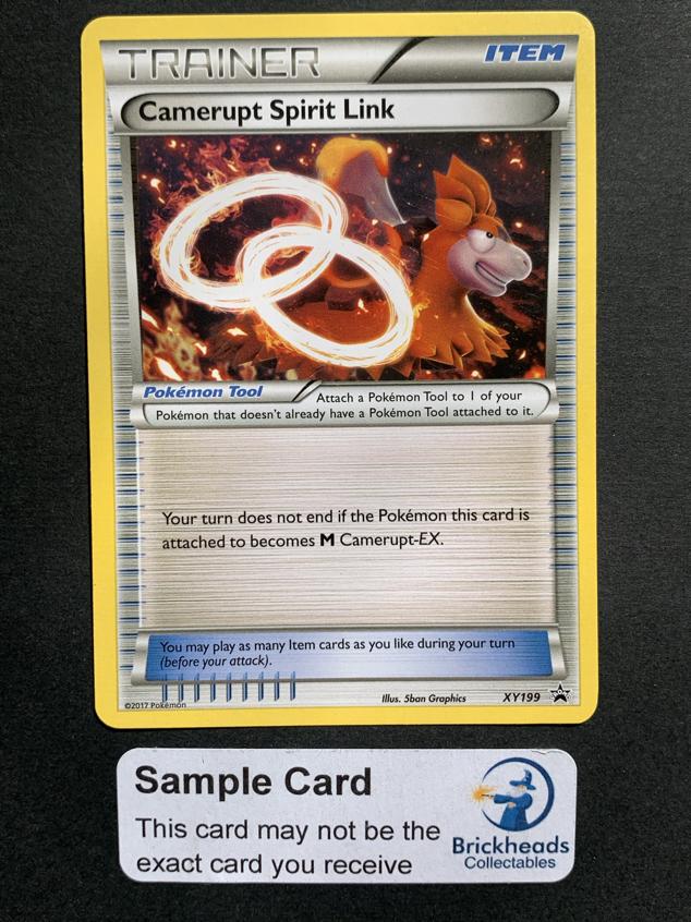 Carte Pokemon CAMERUPT SPIRIT LINK XY199 PROMO XY English NEUF