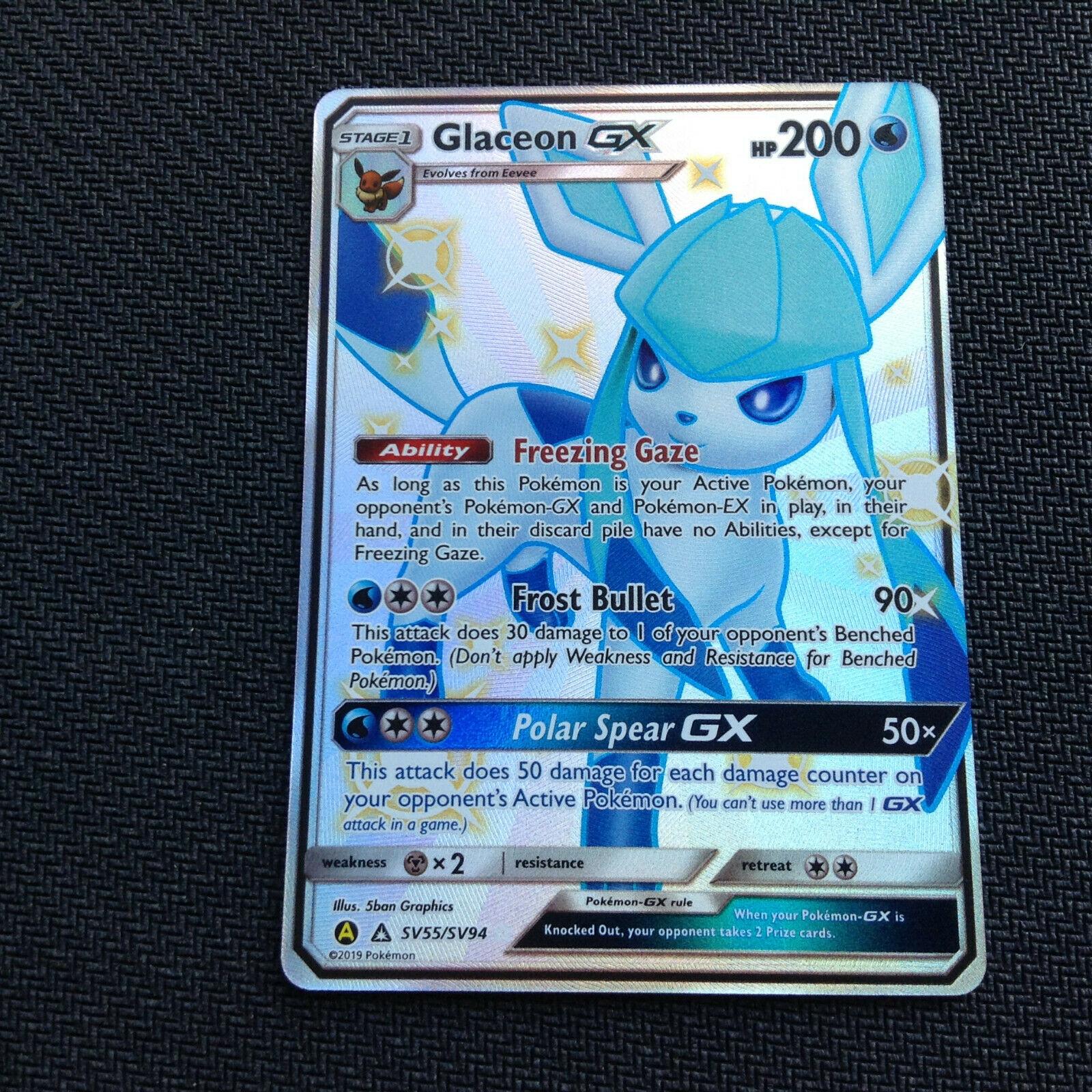 Pokemon Shining Glaceon GX Hidden Fates Shiny Rare SV55//SV94 Secret
