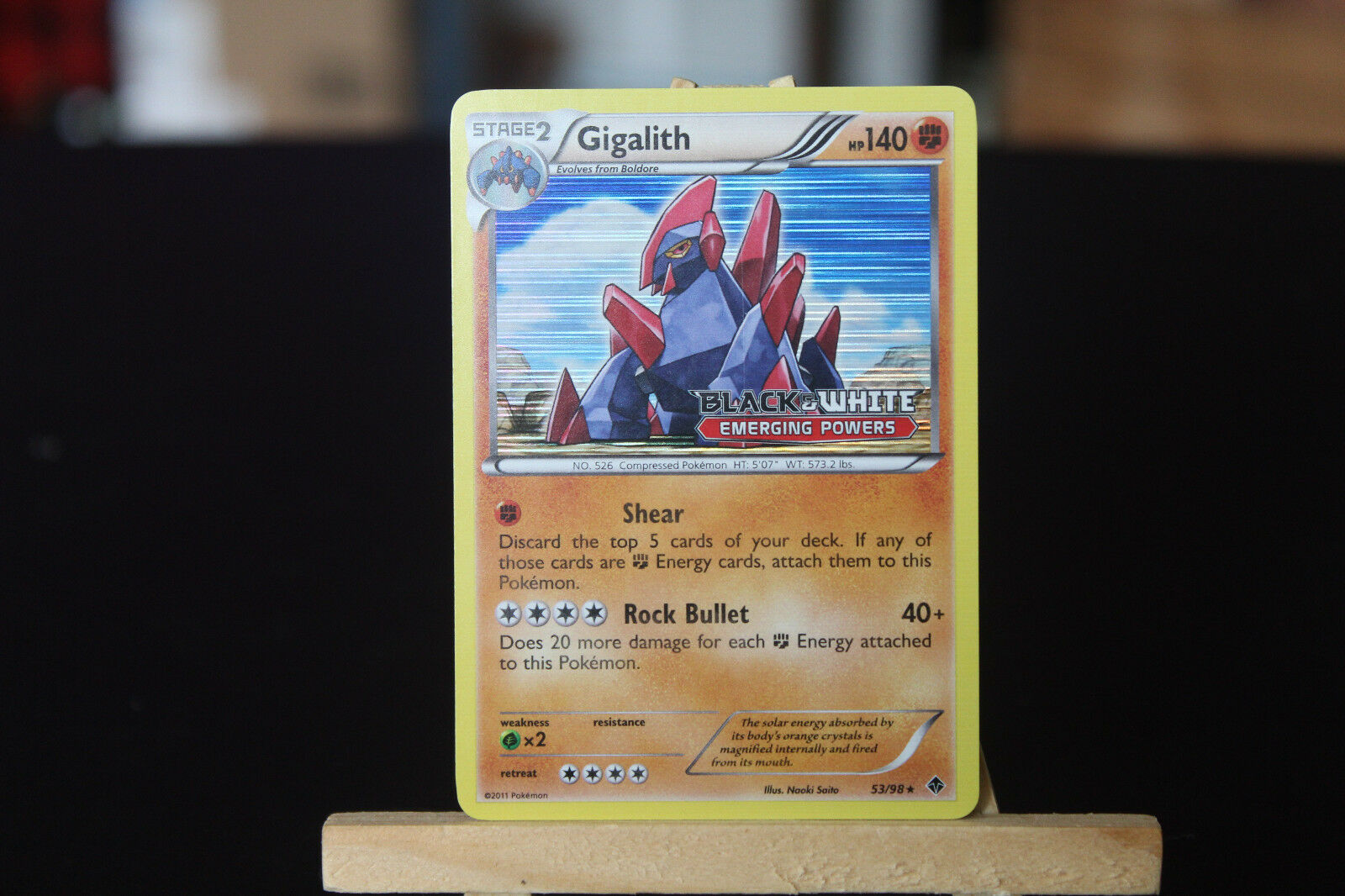 Gigalith Rare Pokemon Card BW2 Emerging Powers 53//98
