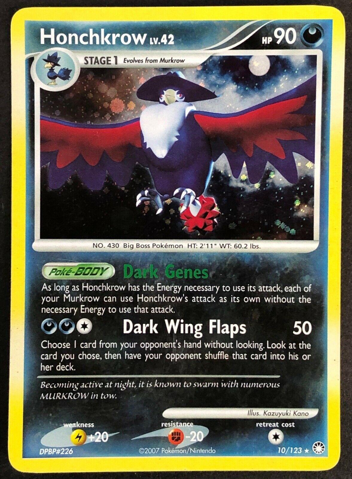 Holo Rare 10//123 Reverse Holo Lightly Played Pokemon Diamond 1x Honchkrow
