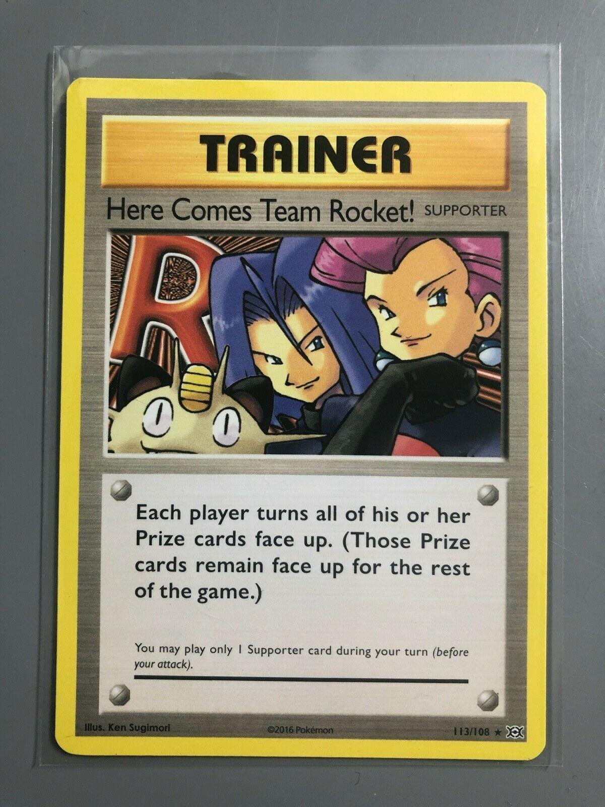Pokemon HERE COMES TEAM ROCKET 113//108 XY12 Evolutions Secret Rare NM