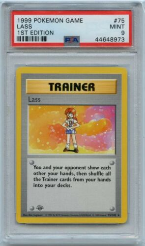 Lass Rare Unlimited Pokemon Card Original Base Set 75//102