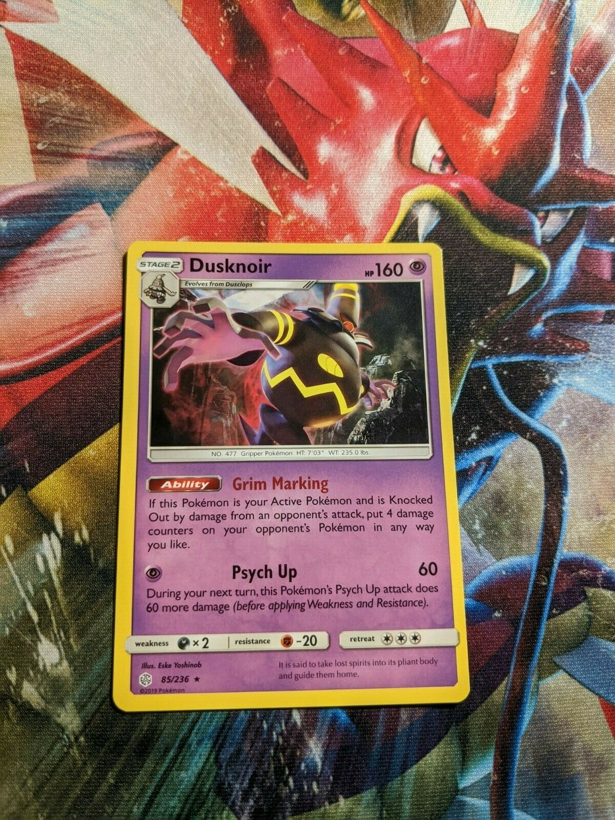 Dusknoir 85/236 - Rare non holo Pokemon Card - Cosmic Eclipse Set (2019) - NM - Image 1
