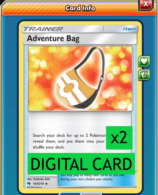 Pokemon card 167//214 reverse adventure bag sun and moon 8 sl8 fr new