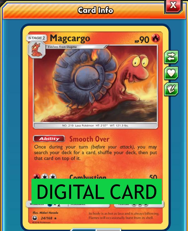 Pokemon Magcargo 24//168 S/&M Celestial Storm RARE PERFECT MINT
