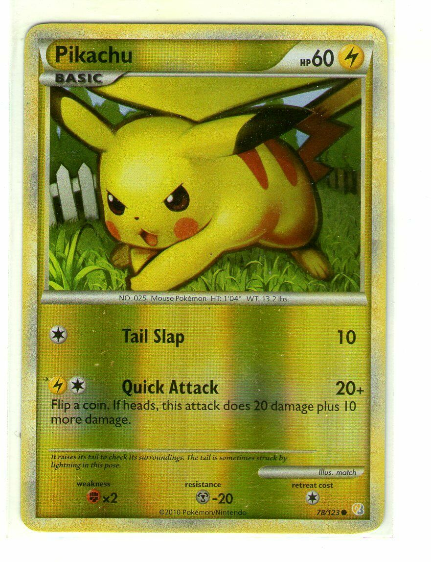 Mint Deutsch Common HeartGold /& SoulSilver Pikachu 78//123 2010