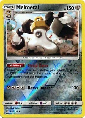 1x - Melmetal - 129/214 - Reverse Holo Rare NM Pokemon Unbroken Bonds
