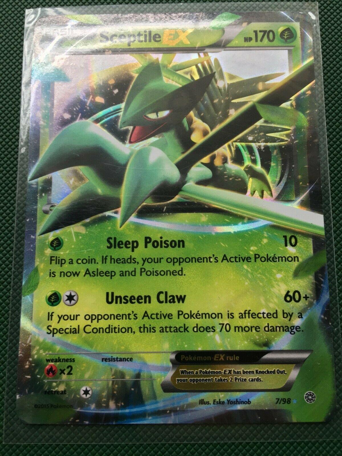 Sceptile EX 7//98 Ancient Origins Near Mint Ultra Rare Pokemon Card