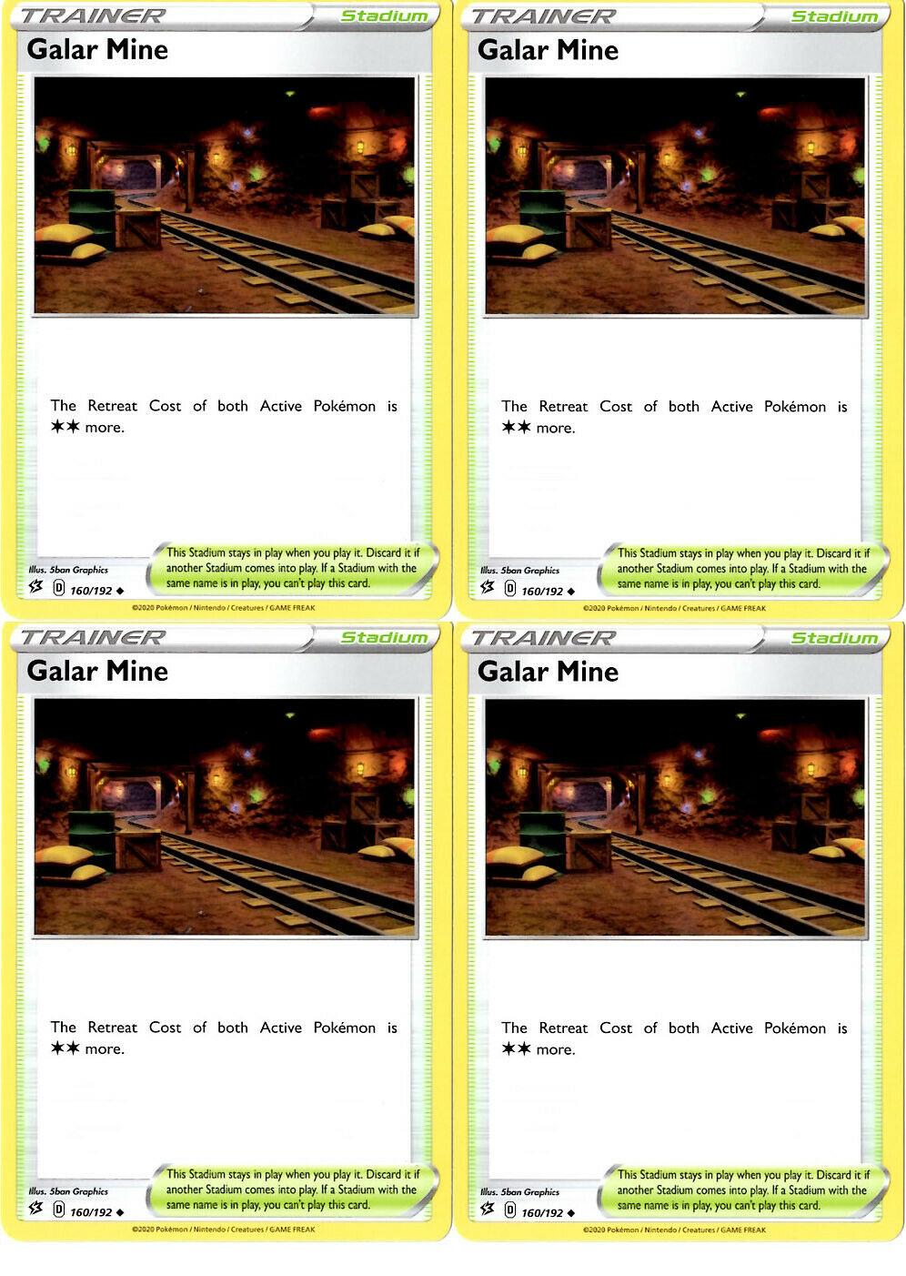 Pokemon Card   GALAR MINE   Reverse Holo  160//192 REBEL CLASH *MINT*