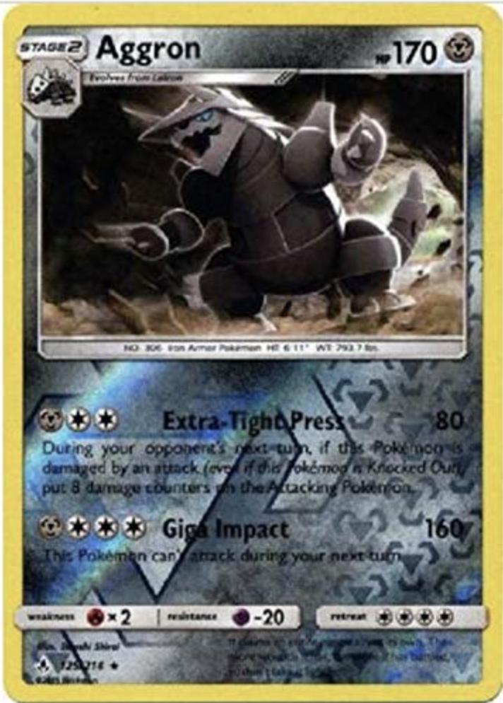 Pokemon - 2x Aggron - 125/214 - Reverse Holo Rare - Unbroken Bonds