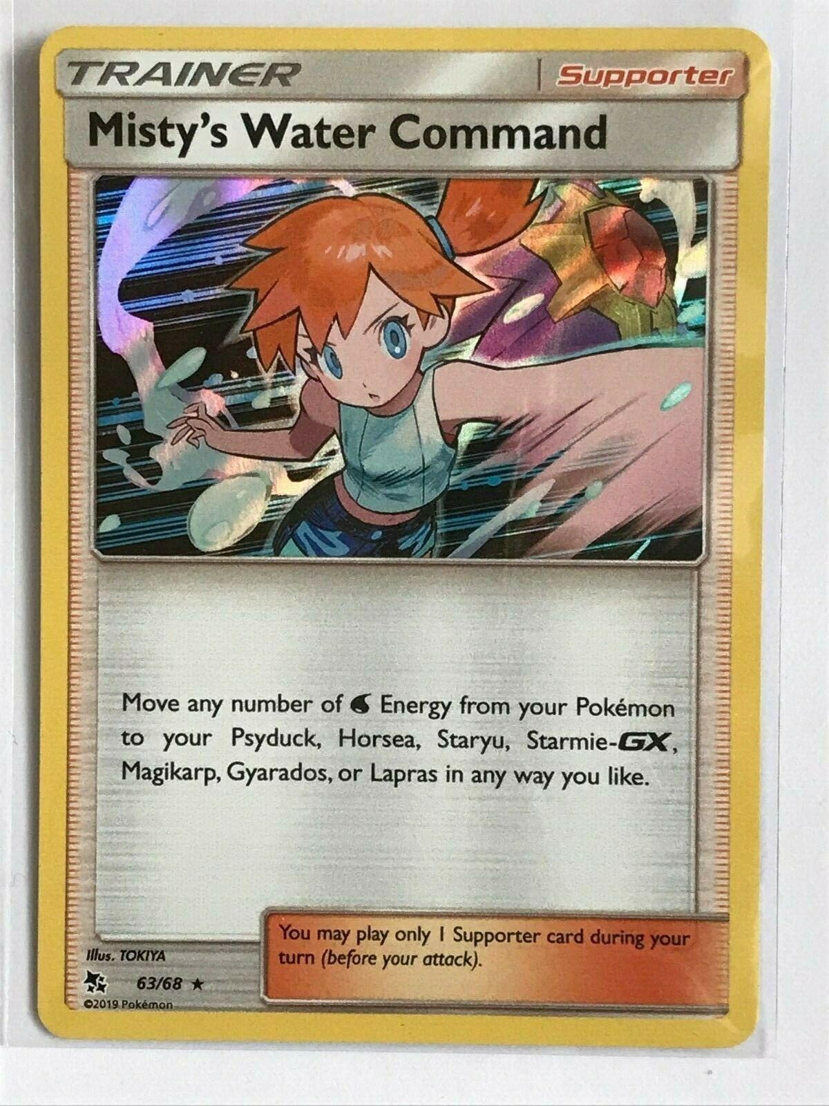- NM 2019 Rare Holo Pokemon Card Misty/'s Water Command 63//68 Hidden Fates