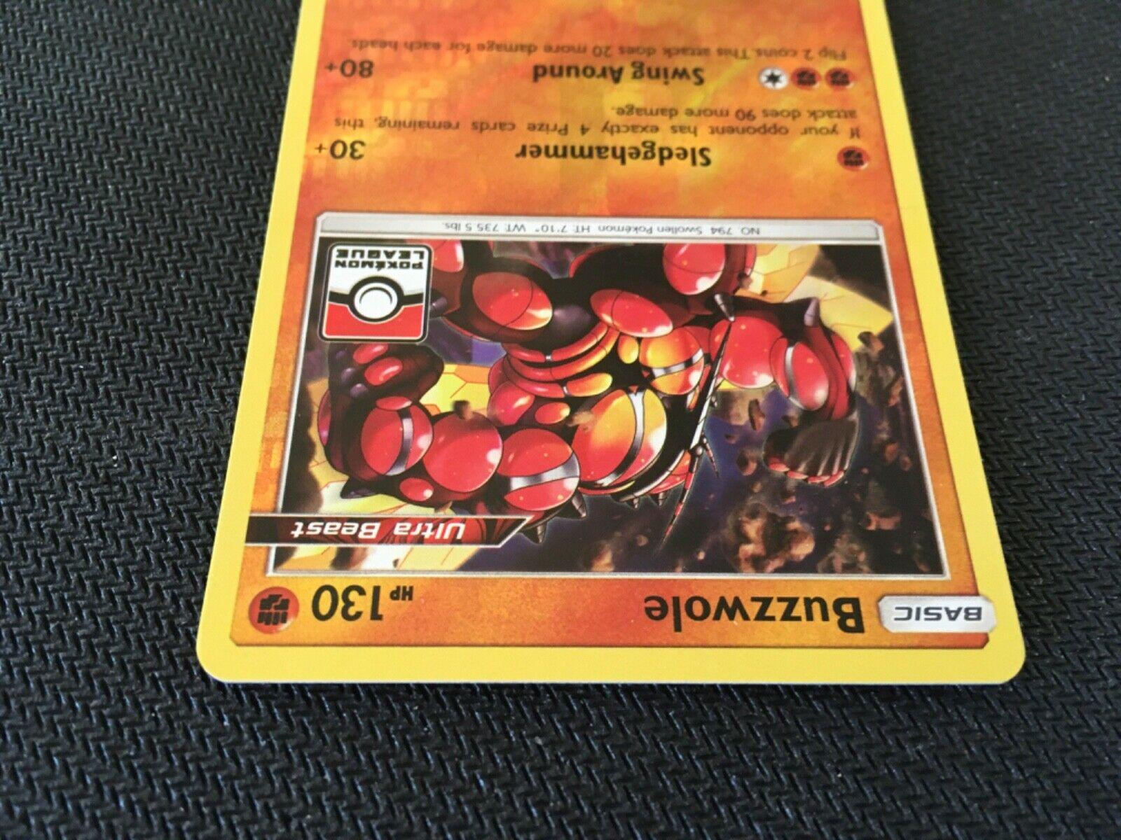 Buzzwole Rare Holo League Promo Pokemon Card Trainer Item Forbidden Light 77/131 - Image 5