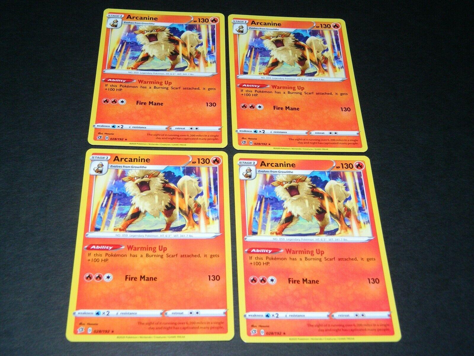 028//192 ArcanineRare CardSword  Shield Rebel Clash