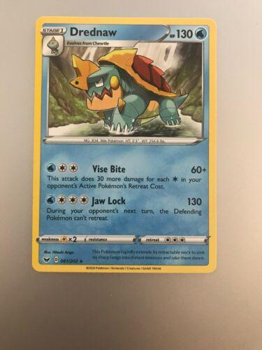 061/202 Drednaw - Rare Card / Pokemon TCG Sword & Shield S&S - Image 1