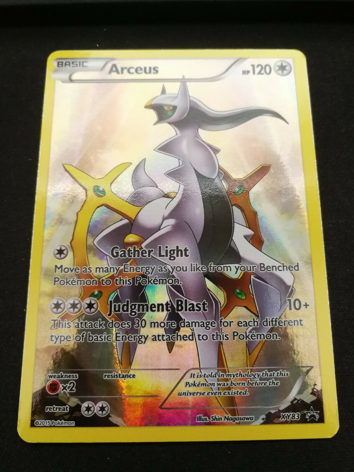 Pokemon Arceus XY83 Holo Black Star Promo Near Mint