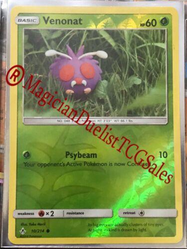 Pokemon Cards - Venonat&Venomoth Reverse Holo [10&11/214] Common/Rare x 1Set