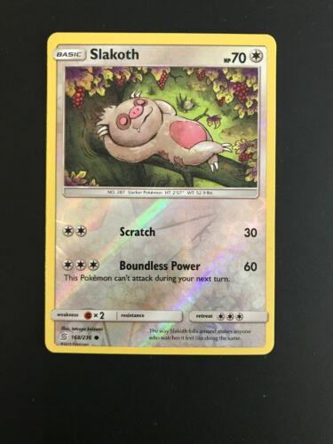 SM-11 Unified Minds 168//236 Slakoth Pokemon Card Reverse Holo TCG