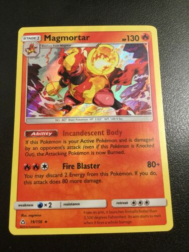 MAGMORTAR 19//156 SM ULTRA PRISM POKEMON HOLO CARD NEW MINT