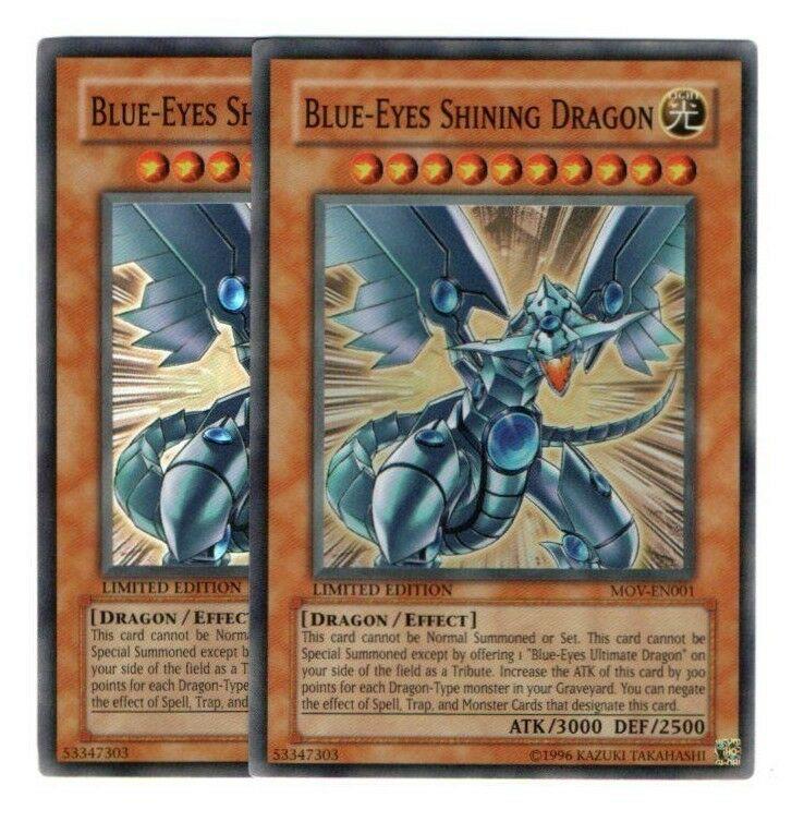 Super Rare HP Unlimited Edition  Y MOV-EN001 Blue-Eyes Shining Dragon 1x