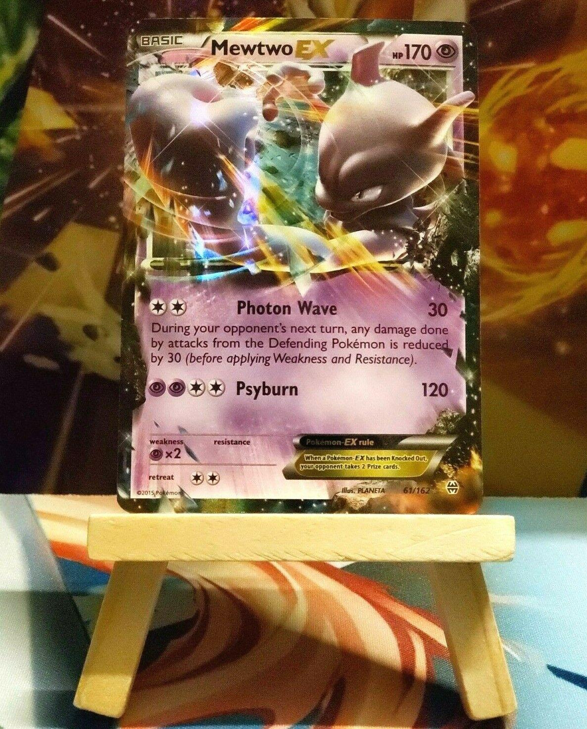 61//162 Holo Rare ex Pokemon: 1x Mewtwo-EX NM-Mint XY BREAKthrough