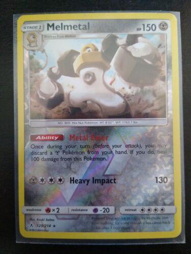 Pokemon TCG SM Unbroken Bonds 129/214 Melmetal Reverse Holo Rare Card
