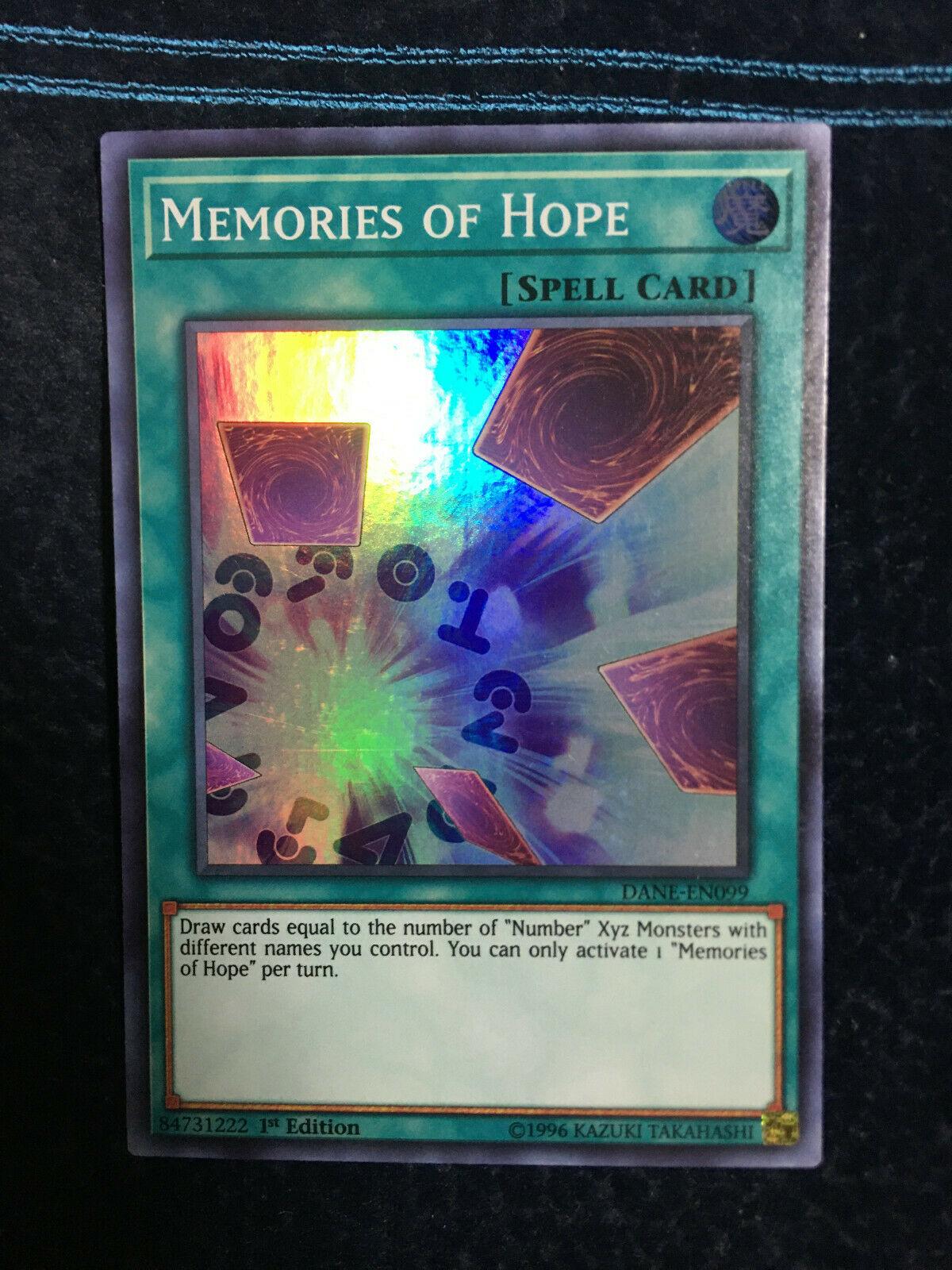3x Memories of Hope Super Rare DANE Yugioh Mint