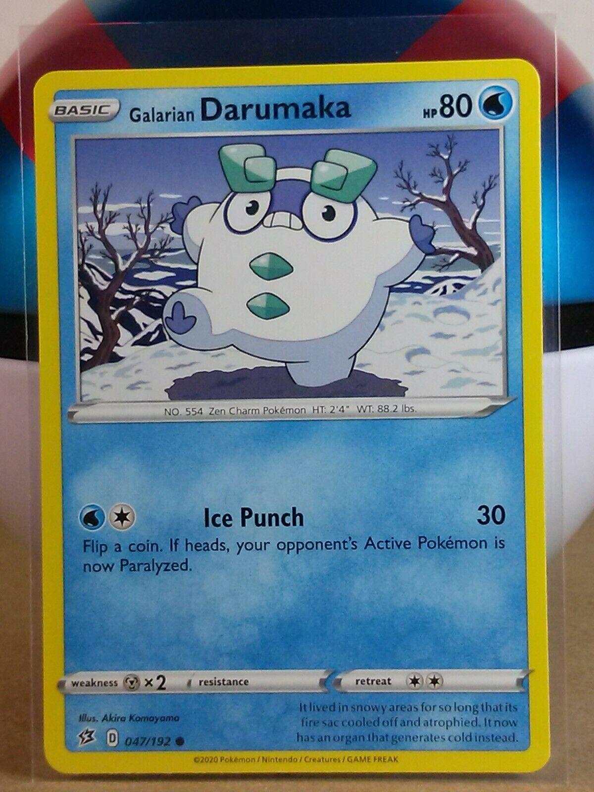 Common Reverse Holo RCL Pokemon Card 47//192 Galarian Darumaka Rebel Clash