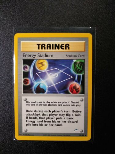 NM//M Condition Neo Destiny Set UN-COMMON Energy Stadium 99//105 Pokemon 1st Ed