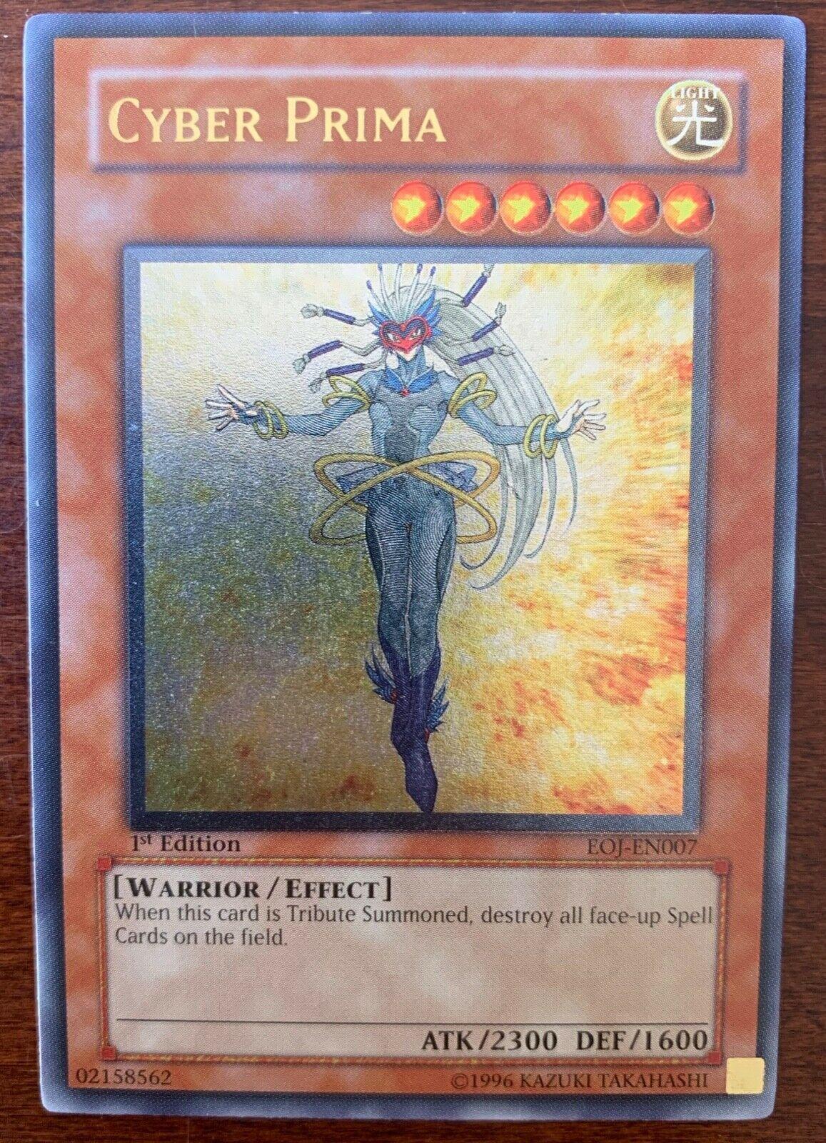 Yugioh Cyber Prima EOJ-EN007 1st Edtion MINT Super Rare