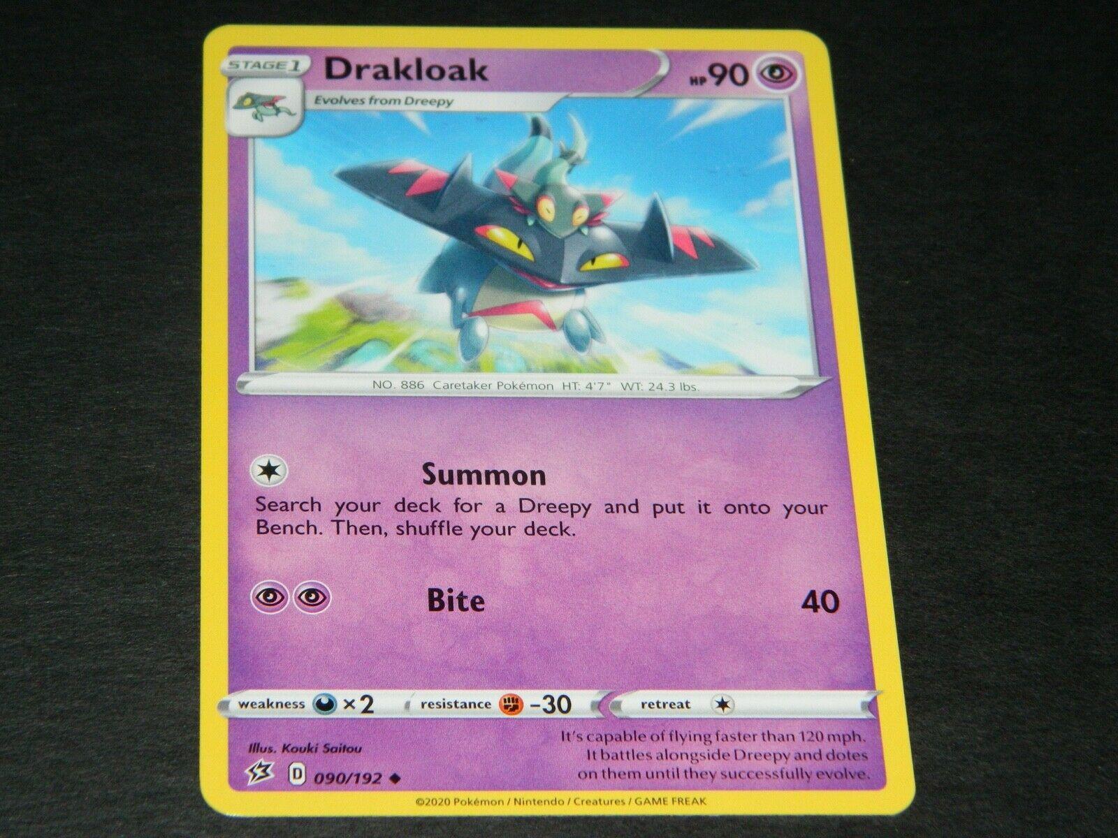 090//192 DrakloakUncommon Reverse Holo Card Pokemon Sword /& Shield Rebel Clash